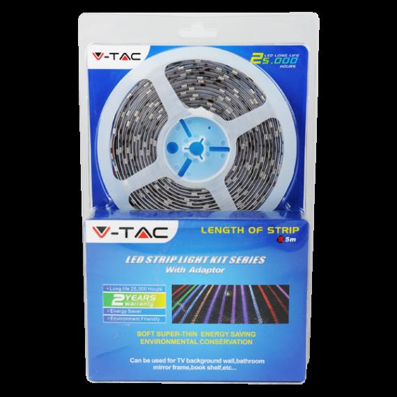 LED szalag szett SMD5050 60 LEDs RGB+Hideg fehér, 5m