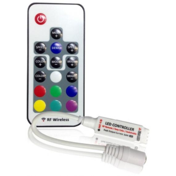 RGB Led szalag vezérlő és távirányító 12V 144W