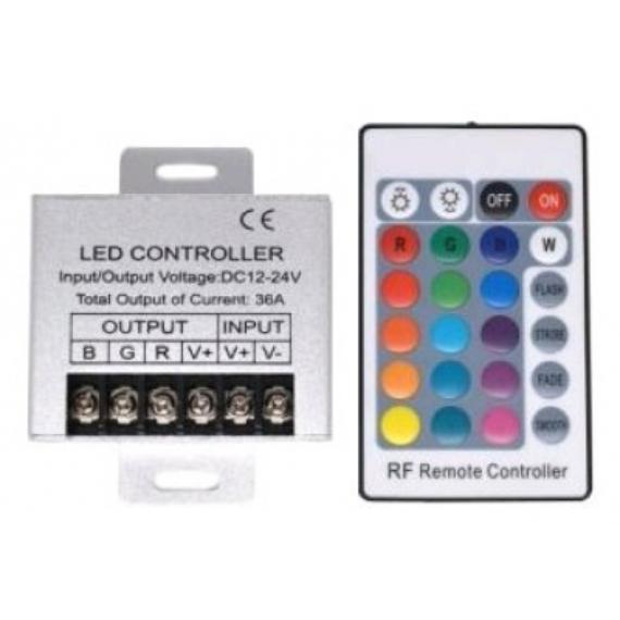 RGB Led szalag vezérlő és távirányító 12V 432W
