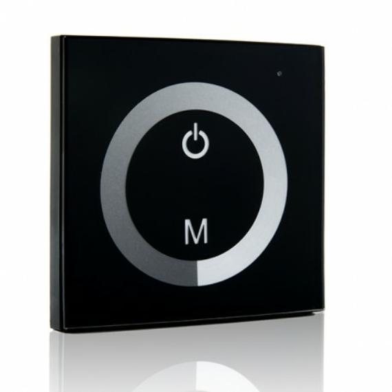 Süllyesztett-beépíthető érintős vezérlő, dimmer, egyszínű LED szalaghoz